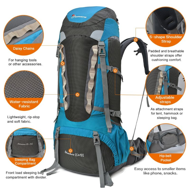 Updated Mountaintop 55l Internal Frame Backpack Review 2016
